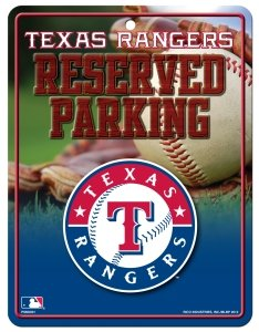 MLB Texas Rangers Parking Sign at Amazon.com