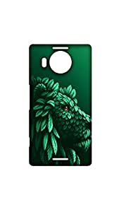 Lion Covered By Green Leaves Stylish Mobile Case/Cover For Microsoft Lumia 950 XL