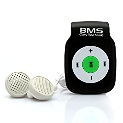 BMS Smart MP3 Music Player With 4GB Micro SD Card (Black)