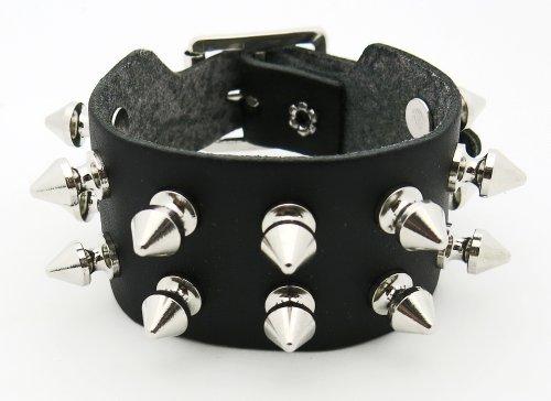d573244d6b2d Bracelet rivet Clouté Clou Biker Cuir Fetish Goth Gothic Hard Rock Metal