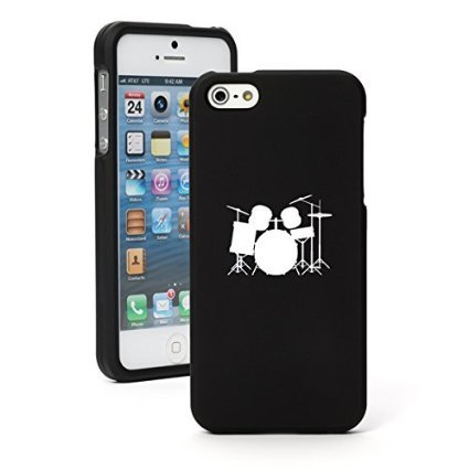 apple-iphone-5-5s-snap-on-2-piece-rubber-hard-case-cover-drum-set-black
