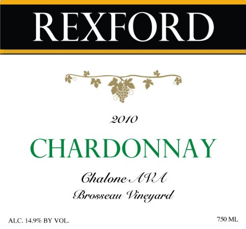 2010 Rexford Winery Chardonnay Chalone, Brosseau Vineyard 750 Ml