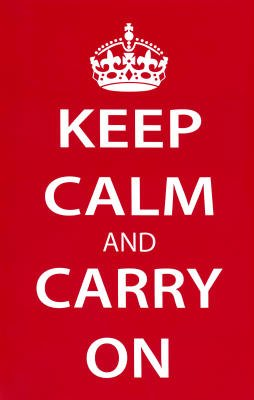 Keep Calm and Carry On (Motivational, Red) Art Poster Print - 11x17