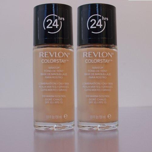 Fondotinta Revlon Colorstay Make Up - Combination/Oily Skin Warm Golden - Confezione Doppia