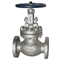 Sharpe Valves 45314 Series Carbon Steel Globe Valve, Bolted Bonnet, Inline, Flanged