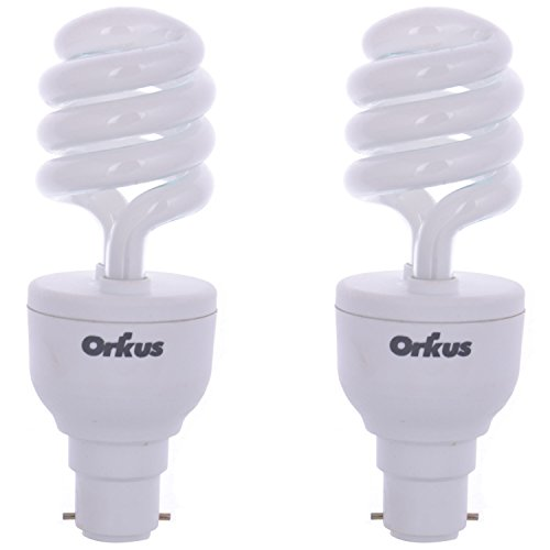 15W SP CFL Bulb (White, Pack of 2)