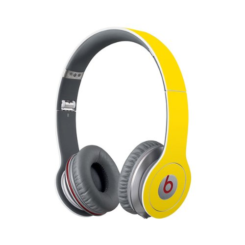Beats Solo Full Headphone Wrap In Yellow (Headphones Not Included)