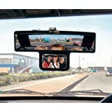 Double View Convex Rear View Mirror, Clip-on, See the Kids / Babyby Icebenice