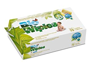 Bio Wipies Biodegradable Baby Wipes - Pack of 72