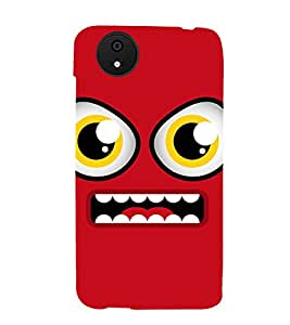 ANIMATED CARTOONISH EYES WITH A BRIGHT RED SMILING FACE 3D Hard Polycarbonate Designer Back Case Cover for Micromax Android A1::Micromax Canvas A1 AQ4502