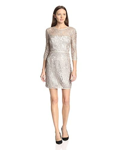 A.B.S. by Allen Schwartz Women's Metallic Foil Lace Sheath Dress