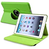 GREEN 360 ROTATING FLIP LEATHER CASE COVER FOR THE NEW IPAD MINI / MINI-2 / MINI-3 WITH SCREEN PROTECTOR AND STYLUS WITH FREE UK DELIVERY