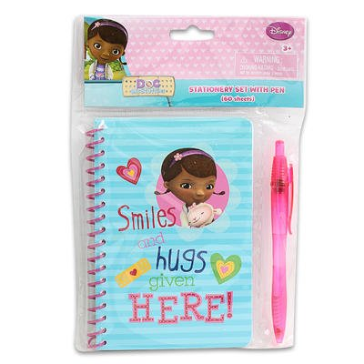 Doc McStuffins Stationery Set with Pen (60 Sheets) by Disney