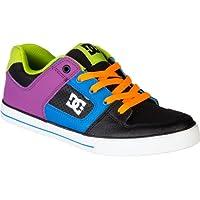 ディーシー DC Pure Skate Shoe - Boys' Black Potent Purple アウトドア キッズ 子供 男の子 ブーツ 靴 シューズ 並行輸入