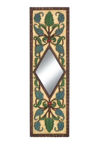 The Floral Wall Mirror By Woodland Import
