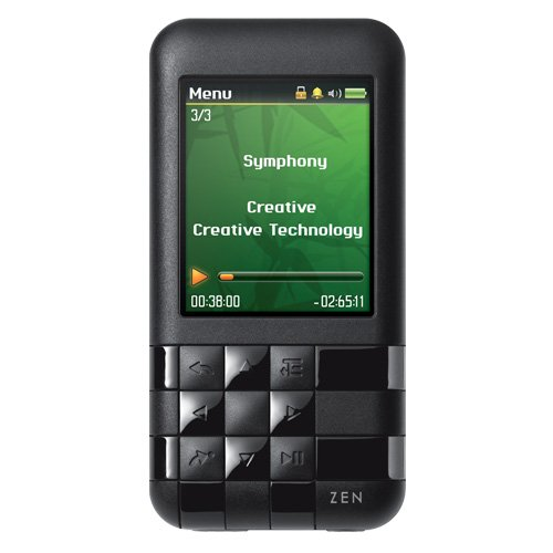 Refurbished Creative ZEN Mozaic EZ100 MP3 Player 8GB (Black)