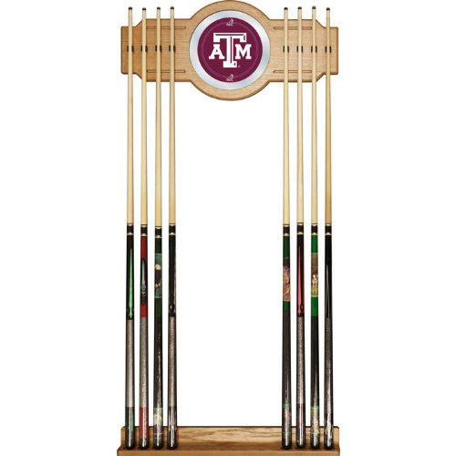 Texas A&M University 2 Piece Wood And Mirror Wall Cue Rack Texas A&M University 2 Piece Wood And Mi