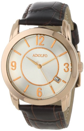 ADOLFO Men's 31030A Dress Slim Design Calendar Watch