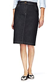 Classic Collection Denim Pencil Skirt