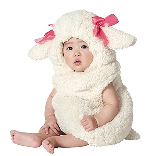 [Plush Lamb Vest Infant Costume (0-6 months)] (Baby Lamb Halloween Costumes)