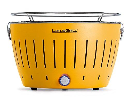 LotusGrill G-GE-34 - Barbecue a carbone senza fumo, colore giallo