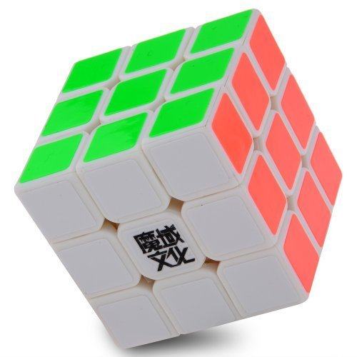 3x3x3 YJ Moyu Weilong Plus 54.5mm White Version 2 Speed Cube Puzzle New V2 3x3 - 1