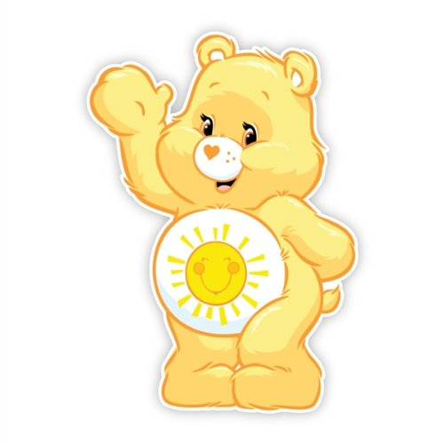 Walls 360 Peel & Stick Fabric Wall Decals: Care Bears Funshine Bear Wave (8.5 in x 12 in) - Care Bears