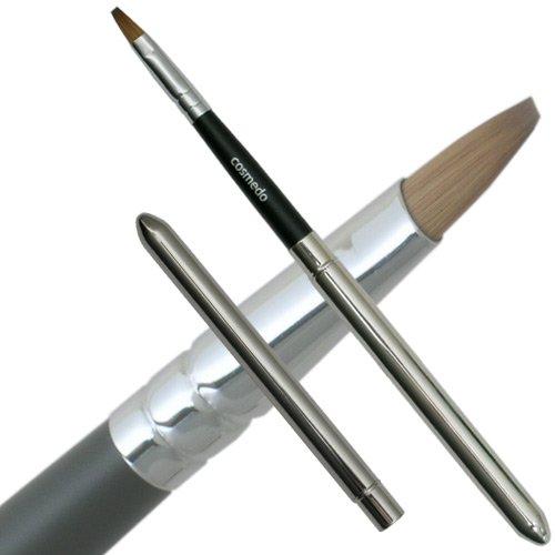 匠の化粧筆コスメ堂 熊野筆メイクブラシ ショートタイプ コリンスキー100%差し込み式リップブラシ平筆