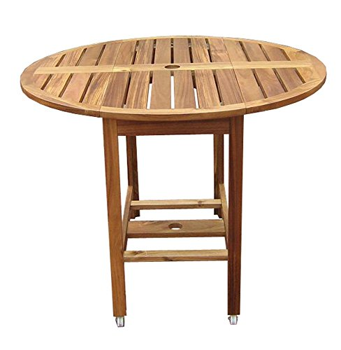 Chesterland Natural Acacia Outdoor Folding Dining Table front-184723