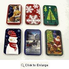 Holiday Gift Card Tin Holder (Set of Six