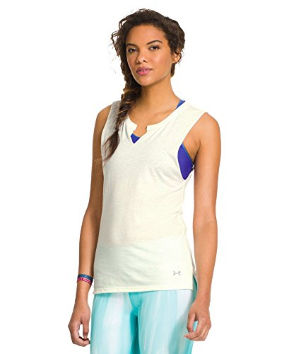 Under Armour Women's Charged Cotton Undeniable Sleeveless Crew X-Large Ivory