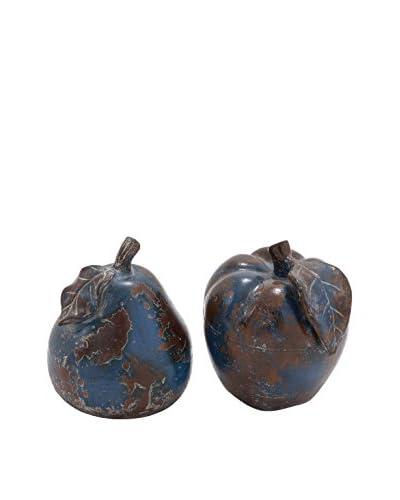 Set Of 2 Ceramic Apple & Pear