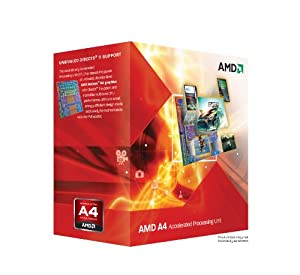 AMD A4-3300 APU with AMD Radeon 6410 HD Graphics 2.5GHz Socket FM1 65W Dual-Core Processor - Retail (AD3300OJGXBOX)