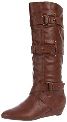 Madden Girl Women's Ilstrate Knee-High Boot,Cognac Paris,9 M US