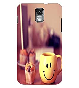 PrintDhaba Smiley Mug D-1204 Back Case Cover for SAMSUNG GALAXY S5 (Multi-Coloured)