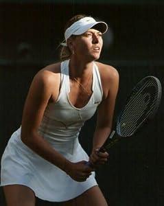 ブロマイド写真★マリア・シャラポワ/テニス/ラケットを構える・背景黒
