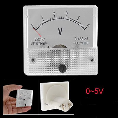 Direct Current 0-5 Volt Voltmeter Analog Panel
