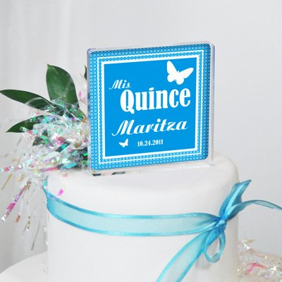 Baby Keepsake: Quinceanera Butterfly Cake Topper