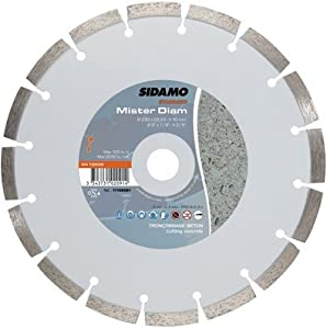 Sidamo - Disque a tronconner diamant mister diam - Ø mm.125 - Alésage mm.22,23 - Haut. mm.7 -