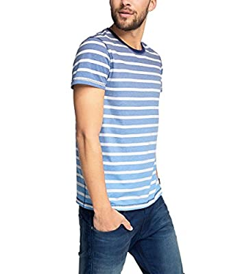 edc by Esprit Men's 056cc2k030 - Auffälligem Farbverlauf Short Sleeve Sports Shirt