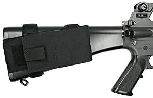 Specter Gear Fixed Stock M-16 and AR-15 Buttstock Magazine Pouch with Rear Adapter, Black