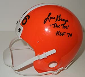 Lou Groza Autographed Hand Signed Cleveland Browns Mini Helmet with Inscription by Real Deal Memorabilia