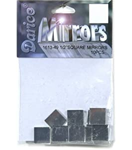Square Glass Mirror 10/Pkg .5 Inch