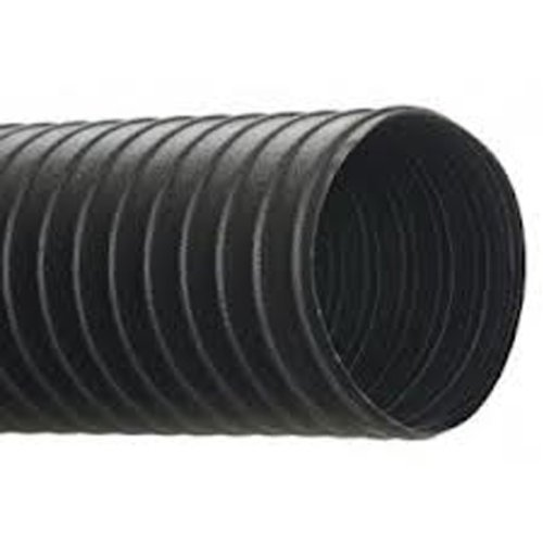 """Hi-Tech Duravent N Heavy-Duty Series Neoprene Coated Fabric & Steel Duct Hose, For Use With Air, Black, 6"""" Id, 25' Length front-555371"""