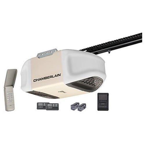 Chamberlain PD612EV 1/2 HP MyQ Enabled Chain Drive Garage Door Opener, Off White (Garage Door Rail Kit compare prices)