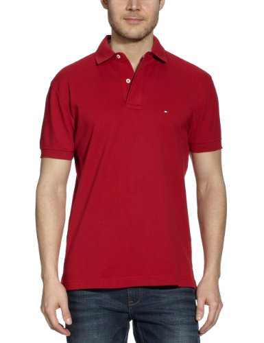 tommy-hilfiger-core-polo-uni-col-a-boutons-manches-courtes-homme-rouge-613-summer-red-small