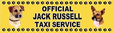 OFFICIAL JACK RUSSELL TAXI SERVICE Dog Car Sticker