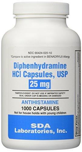Generic-Benadryl-Allergy-Diphenhydramine-25mg-1000-Capsules