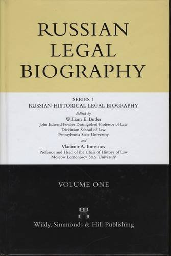 Russian Historical Legal Biography: Series 1, v. 1