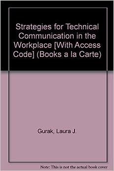 MyTechCommLab: Technical Communication by John M. Lannon (2007, Paperback)
